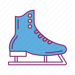 ice shoes, roller, shoes, skateboarding, skating, snow, winter icon