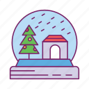 gift, ornament, snow glob, surprise icon