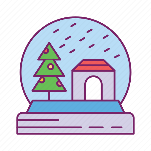 gift, ornament, snow glob, surprise icon