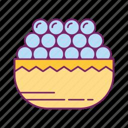food, fruit, fruit basket, grapes icon