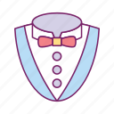 cloth, dress, man, person, shirt, suit, tie icon