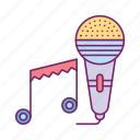 birthday, celebration, music, music show, party, speaker, video icon