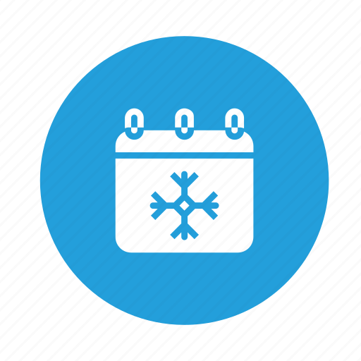 calendar, cold, month, snow, snowflakes, time icon