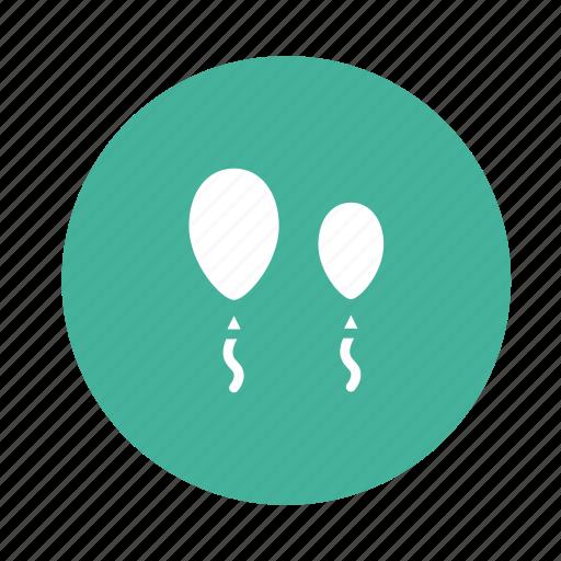 air, balloon, celebration, conversation, talk, tea icon