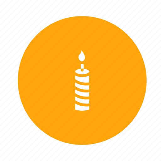 candle, celebration, decoration, fire, flame, hot icon