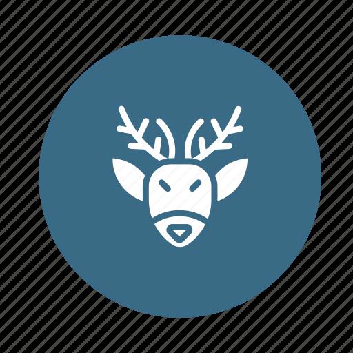 deer, elk, emoticons, face, man, rudolph, sad icon