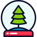 ball, christmas, crystal, new, shake, xmas, year icon