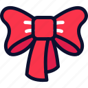 bow, christmas, new, ribbon, xmas, year icon