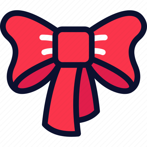bow, christmas, new, ribbon, xmas, year icon