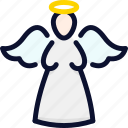 ange, christmas, holy, new, statue, xmas, year icon