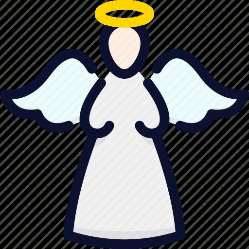 ange, christmas, holy, new, statue, xmas, year icon