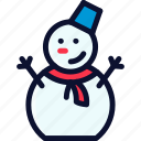 christmas, man, new, snow, snowman, xmas, year icon