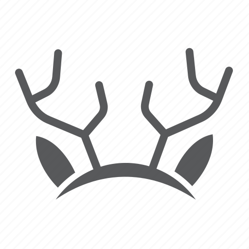 decor, ear, ears, holiday, mask, party, reindeer icon