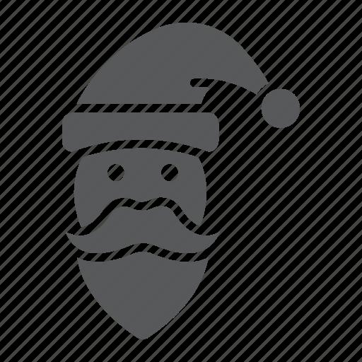 christmas, claus, face, new, santa, xmas, year icon