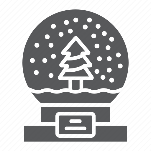 christmas, glass, globe, new, snow, sphere, year icon