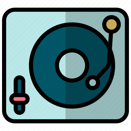 Music player, player, vinyl, vinyl player icon - Download on Iconfinder
