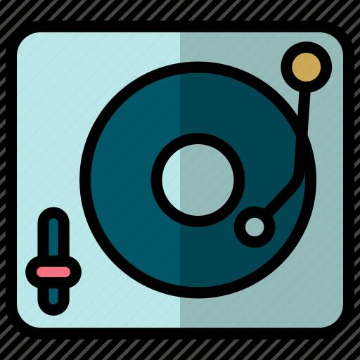 music player, player, vinyl, vinyl player icon