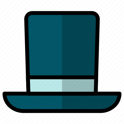 hat, magic, magician, new, top, top hat, year icon