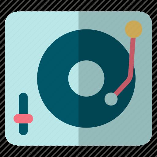 Music player, player, vinyl, vinyl player icon - Download on Iconfinder