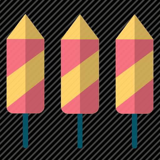celebration, crackers, fireworks, new, rocket, year icon