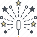 fireworks, festival, event, party, popper icon