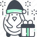 penguin, holiday, bird, gift
