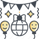 decoration, ball, festival, bauble, celebration icon