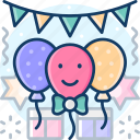 balloon, carnival, party, birthday, newyear icon