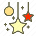 card, celebfratin, decoration, greeting, happy, newyear, star icon icon
