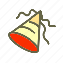 birthday, cone, hat, newyears, party icon