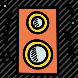deejay, fun, loud, music, noise, party, speaker icon