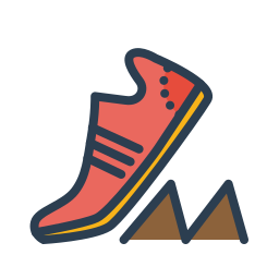 goal, marathon, resolutions, run, running, shoes, sneakers icon