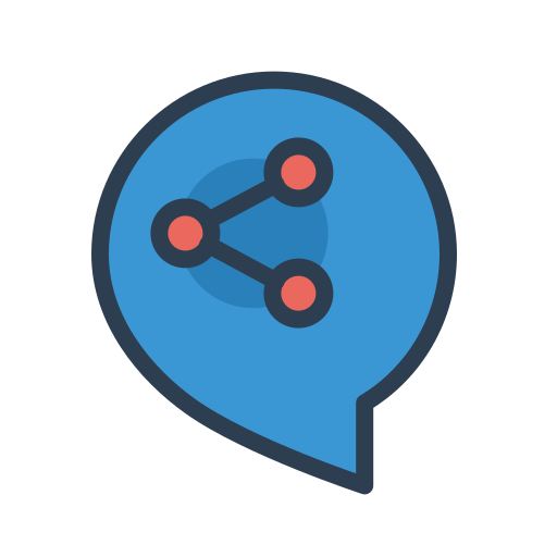 communicate, connection, message bubble, resolutions, share, socialize, talk icon