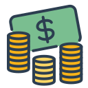 balance spendings, budget, cash, coins, money, resolutions, save money icon