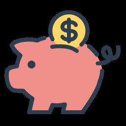 coin, money, piggy, resolutions, save money, savings icon