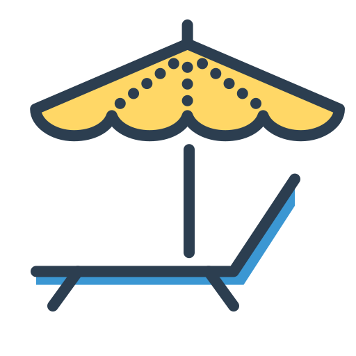 enjoy, relax, resolutions, rest, sleep, umbrella, vacation icon