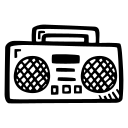 boombox, music, party, sound icon