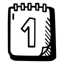 calendar, celebration, first day icon