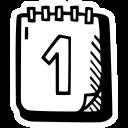 calendar, celebration, first day icon