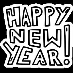celebration, happy, new, new year, party, year icon