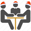 agreement, conversation, dialog, negotiation, new year, trading, trio icon
