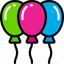 balloons, celebration, december, holidays, new years icon