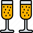 alcohol, audio, champagne, december, drinks, holidays, new years icon