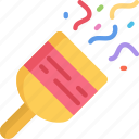 celebration, december, holidays, new years, party, popper icon