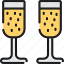alcohol, champagne, december, drinks, holidays, new years icon