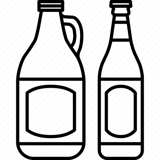 alcohol beer bottle drink growler pint recipient icon