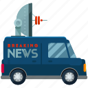 news, transport, transportation, van, vehicle icon