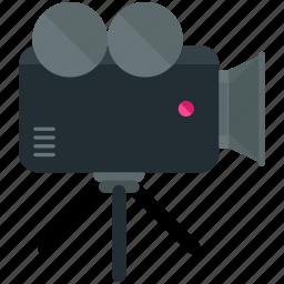 camera, news, studio, tripod, video icon