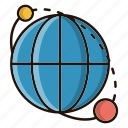 global, news, solar, system, world icon