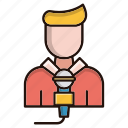 avatar, journalist, microphone, news